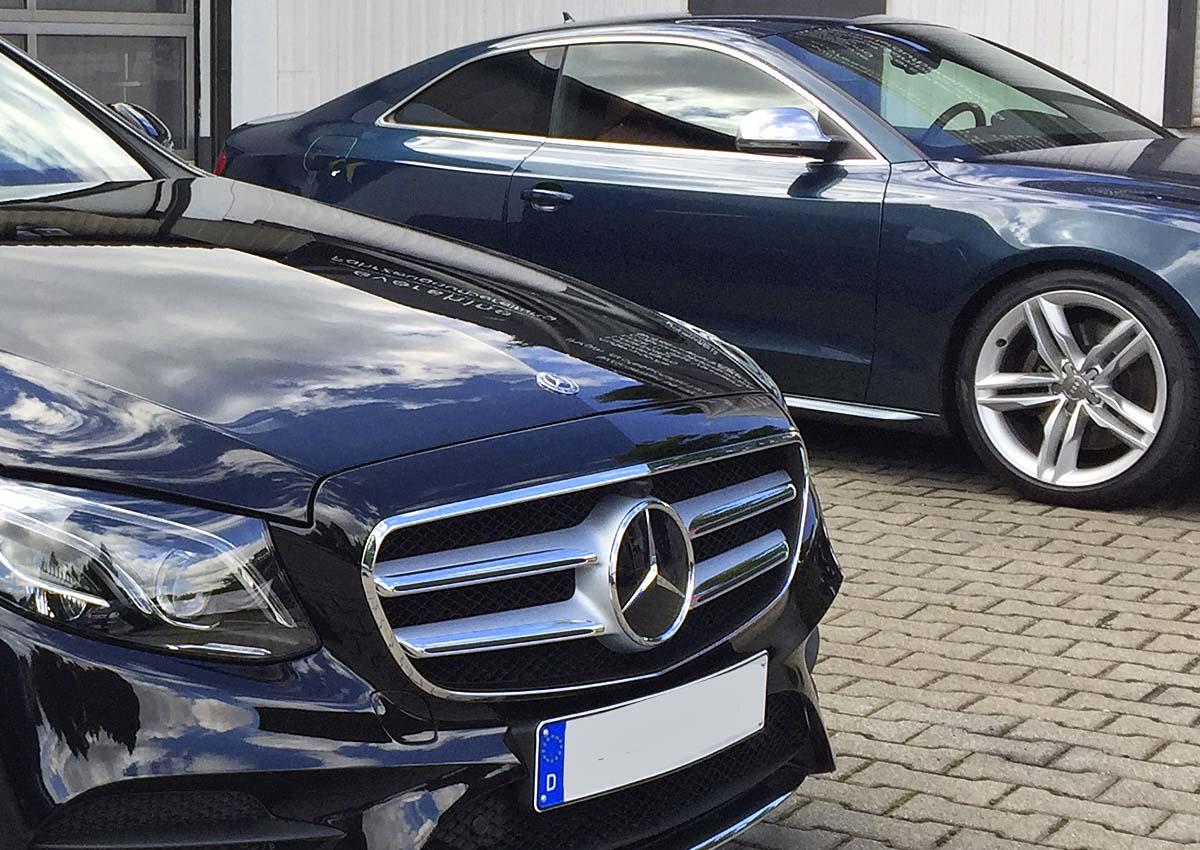 Mercedes E Klasse und Audi A5