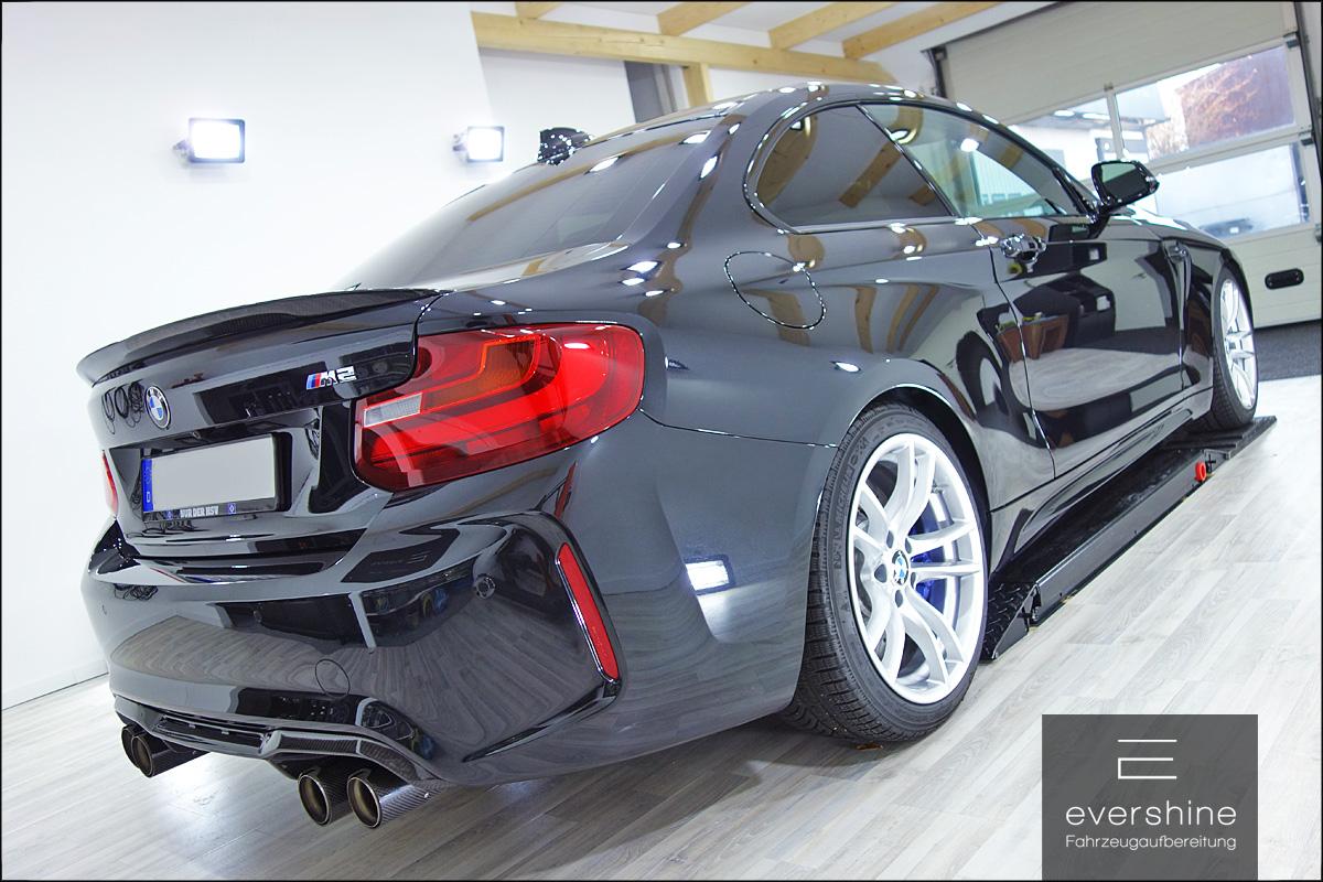 Keramikversiegelung NRW certified by ServFaces - evershine Fahrzeugaufbereitung BMW M2 Finish