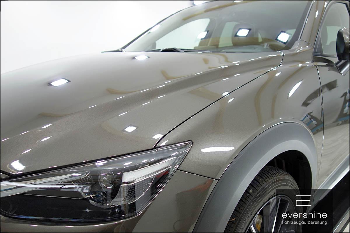 Kunststoffversiegelung Keramikversiegelung Kotflügel Mazda CX-3